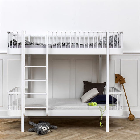 Bunk Bed Loft Oliver Furniture White - ladder front