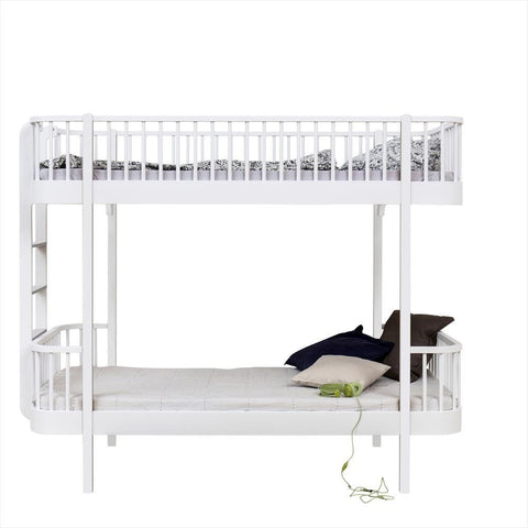 Bunk Bed Loft Oliver Furniture White - ladder side