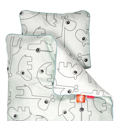 Done by Deer - Baby Contour Bedlinen blue