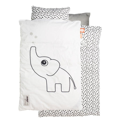 Done by Deer - Baby Bedlinen Elphee white Dots