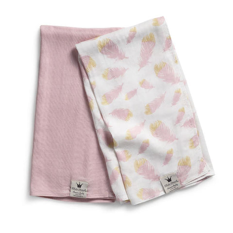 Set of 2 large Muslin Swaddle Blanket Bamboo Elodie Details Feather Love