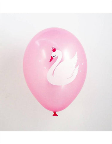 Set of 6 balloons Swan