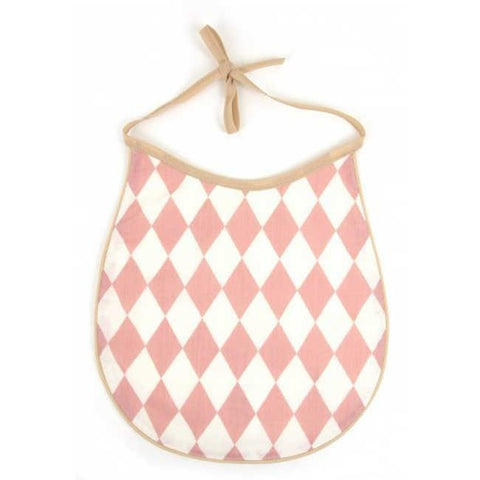Cotton Bib Nobodinoz Pink Diamonds
