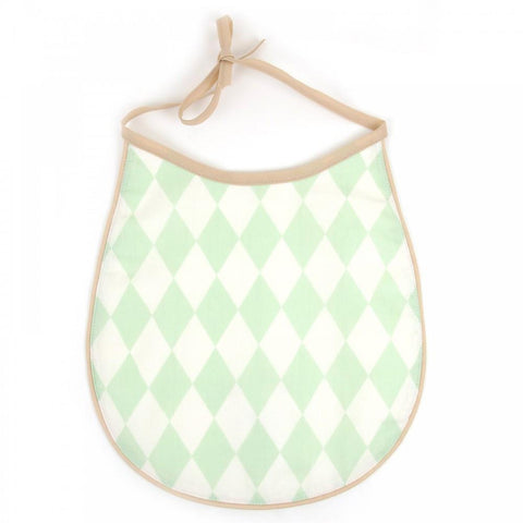 Cotton Bib Nobodinoz Green Diamonds