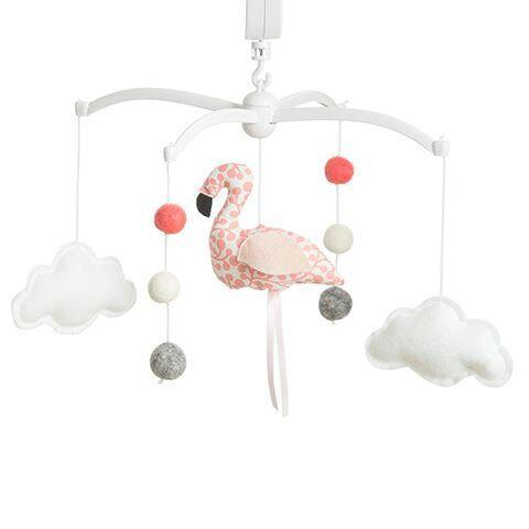 Musical mobile Pouce & Lina - Flamingo Coral