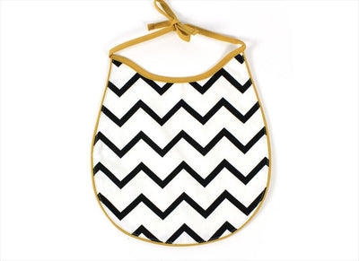 Cotton Bib Nobodinoz Zig Zag Black