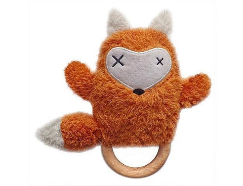 Teether Rattle Fox O.B. DESIGN