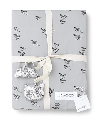 Duvet Cover Paper Plane - Dumbo Grey