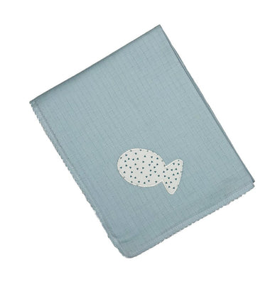 Baby Gi - Muslin Little Fish Green Water