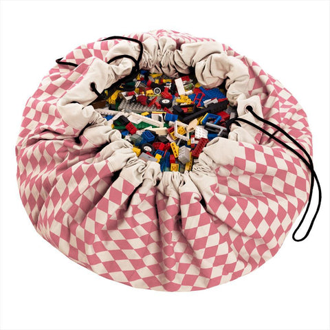 Play & Go Pink - Diamonds Playmat / Storage sack