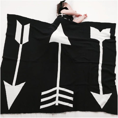 Reversible Knit Blanket Arrow