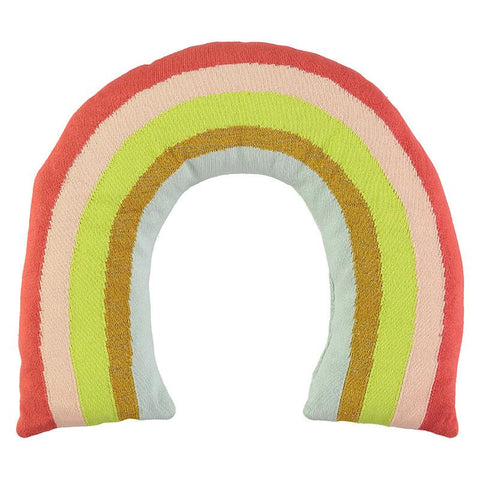 Meri Meri - Knitted Rainbow Cushion