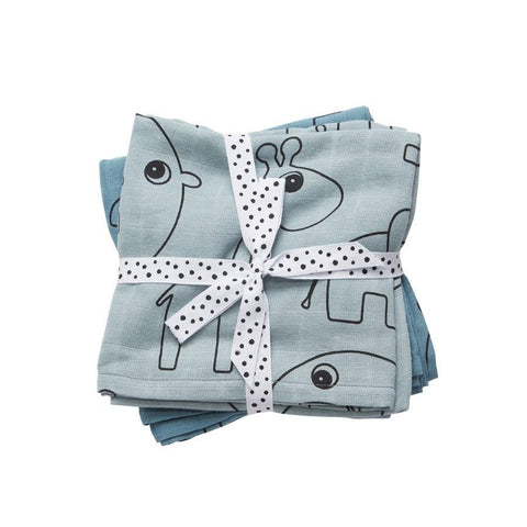 Done by Deer - Swaddle, 2-pack blue