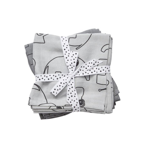 Done by Deer - Swaddle 2-pack Contour grey