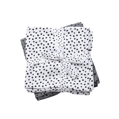Done By Deer - Swaddle 2-Pack Happy Dots Grey
