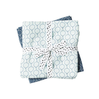 Done by Deer - Swaddles 2-pack Balloon blue