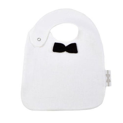 House of Jamie - Bow Tie Bib Black & White