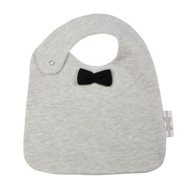 House of Jamie - Bow Tie Bib Black & Stone