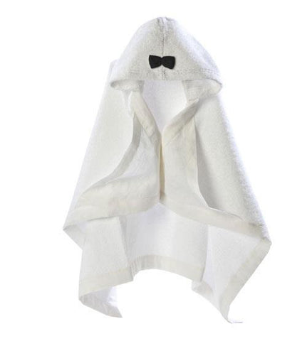 Hooded baby towel House of Jamie Snow Black & White
