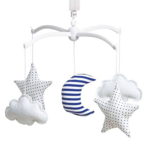 Musical mobile Pouce & Lina - Moon and Stars Marine