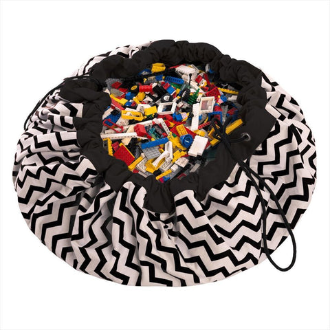 Playmat / Storage sack Play & Go Zig Zag Black