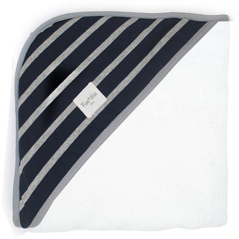 Fundas - Hooded baby towel Blue Stripes