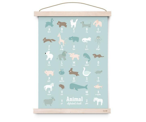 "XL Poster Eef Lillemor ""Animal Alphabet"" (50x70cm)"