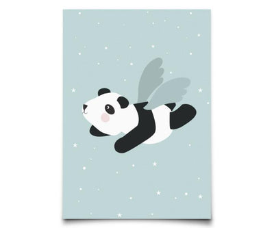 Eef Lillemor - Postcard Flying Panda Mint