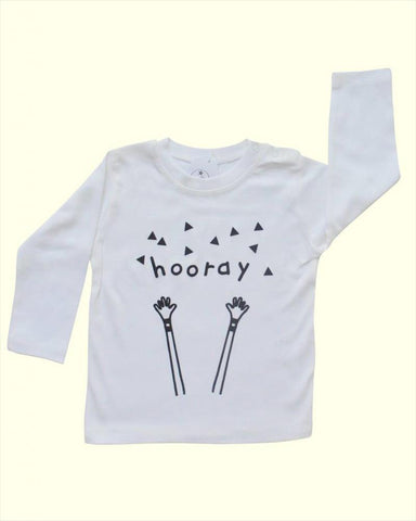 T-shirt Hooray White
