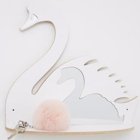 Shelf with Mirror That's Mine White Swan
