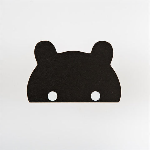 Wall Hook That's Mine Bear Black