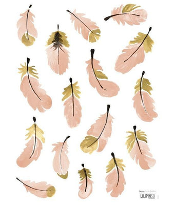 Lilipinso - Wall Sticker Feathers Pink