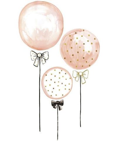 XL Wall Sticker Balloons Pink and Peas Gold
