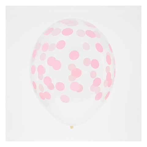 My Little Day 5 printed confetti balloons Pink