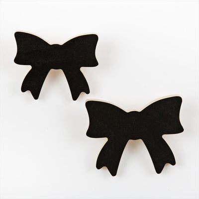 That's Mine - Set of 2 Wall Hooks Bow Black