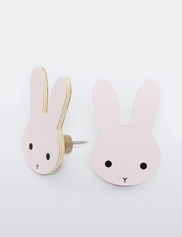 Wall Hook That's Mine Bunny Pink