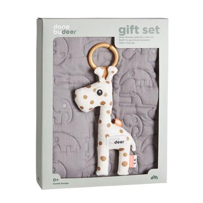 Done By Deer - Quilt Gift Set Grey