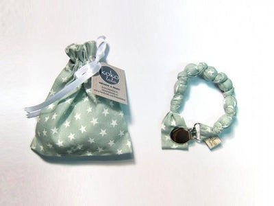 Kokolala Ball Pacifier Holder - Mint Stars