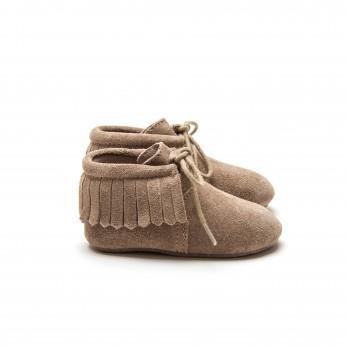 Mockies Fringe Boots Taupe (Last pieces! Size S)