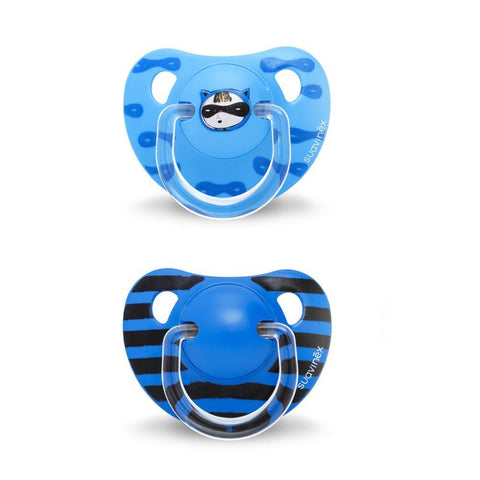 Set of 2 teethers Suavinex Mask Blue (+12m)