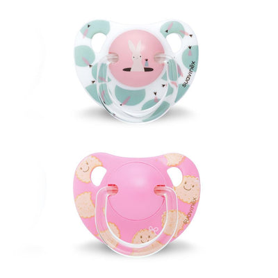 Set of 2 teethers Suavinex Rabbit white-pink (+12m)