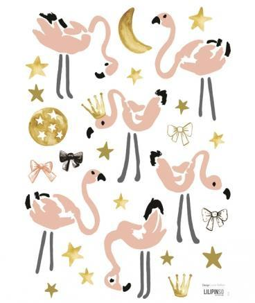 Wall Sticker Pink Flamingo
