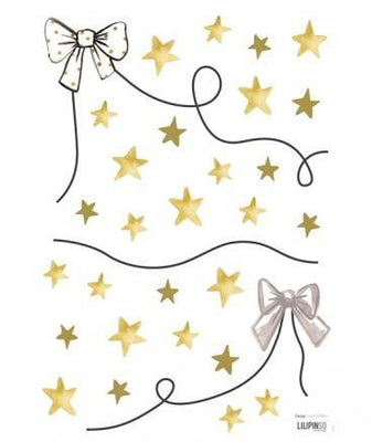 Lilipinso - Wall Sticker Garland Bowtie and Stars