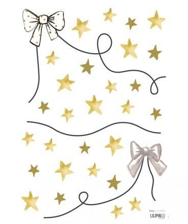 Wall Sticker Garland Bowtie and Stars