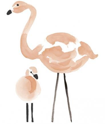 Wall Sticker XL Flamingo