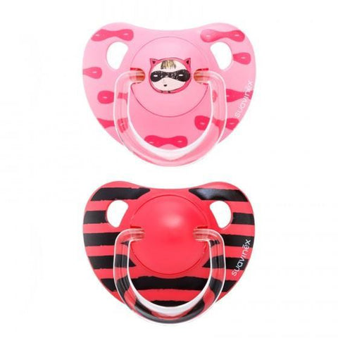 Set of 2 teethers Suavinex Mask Pink (+12m)