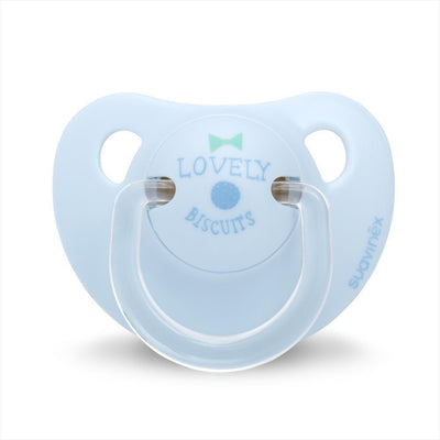 Suavinex - Pacifier Anatomical Latex 0-6 Months Lovely Biscuits Blue