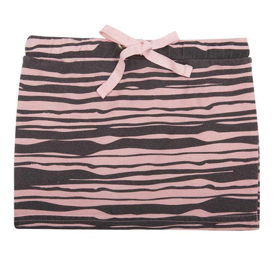 Little Indians Wild stripe skirt Rose Tan