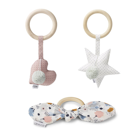 Liewood - Alvin Rattle 3 pack Girlie
