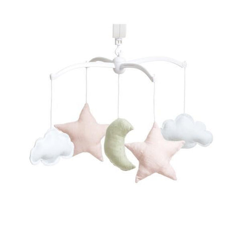 Musical mobile Pouce & Lina - Moon and Stars Linen